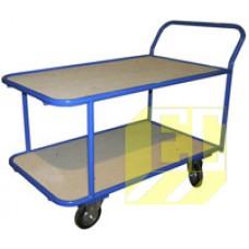 Четырёхколёсные тележки с двухъярусными фанерными платформами КП-2 купить в Екатеринбурге в магазине ЕС-Сервис