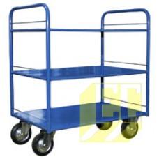 Четырёхколёсные тележки с трехъярусными металлическими платформами КР-3 купить в Екатеринбурге в магазине ЕС-Сервис