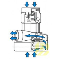 Вакуумный мотор - турбина для Fiorentini Ecomini 436 B, Delux 350 B MO436 MO436