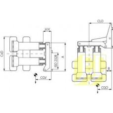 Сталкивающие захваты для рулонов бумаги с углом поворота 90° с раздельными лапами